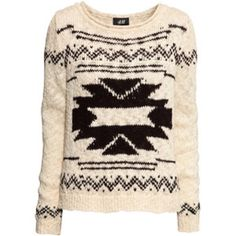 Cream Aztec print sweater from h&m! Cozy oversized Aztec print sweater! Looks brand new! Super comfortable! H&M Sweaters Crew & Scoop Necks