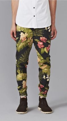 Floral pants for men….Get em!