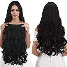REECHO Full Head Curly Wave Clips in on Synthetic Hair Extensions Hairpieces for Women 5 Clips Oz per Piece - Natural Black New Natural Hairstyles, Dreadlock Hairstyles, Great Hairstyles, Box Braids Hairstyles, Popular Hairstyles, Black Women Hairstyles, Straight Hairstyles, Girl Hairstyles, Toddler Hairstyles