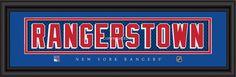 "New York Rangers ""Rangerstown"" Stitched Jersey Framed Print"