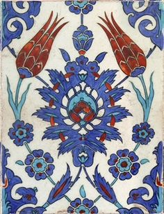 Azulejos de Iznik, Bursa, Turquía, S XV-XVI