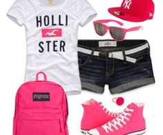 I would change the backpack and the shoes could be purple but other then that love the outfit