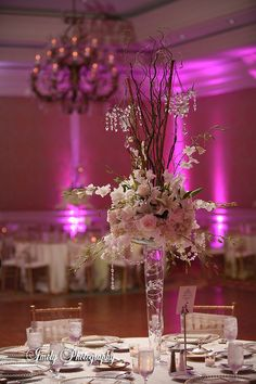 white pink centerpieces - Google Search