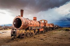 After the mining industry in Bolivia collapsed, the railways that served them fell into ruin. But today people are returning to the town just to see the rusting hulks of old steam trains in Uyuni Train Cemetery