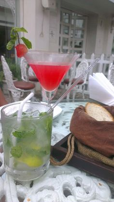 Mint mojito, watermellon margarita on a spring afternoon. Perfect. A really nice place to eat in bangalore.