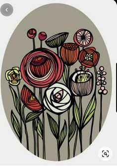 Wal Art, Scandinavian Folk Art, Linocut Prints, Pattern Art, Doodle Art, Flower Art, Art Flowers, Art Inspo, Painting & Drawing