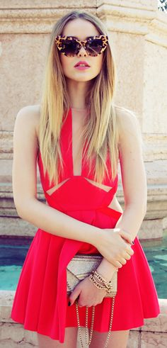 street style / summer in red