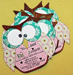 owl birthday party invite.