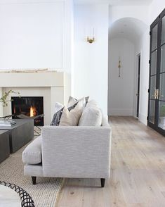 The House of Silver Lining: Our Sleek Minimalist Living Room Home Living Room, Living Room Designs, Living Room Furniture, Living Room Decor, Modern Furniture, Living Room Flooring, Furniture Sale, Furniture Design, Home Design