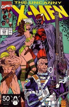 The Uncanny X-Men #274 (Marvel 1991)  Cover Art by Jim Lee Inked by Scott Williams
