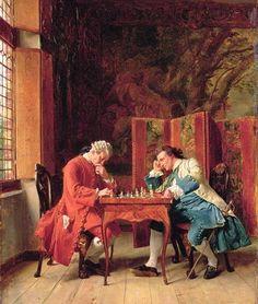 Meissonier, Jean-Louis Ernest (b,1815)- Chess -2a