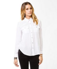 Essential Charmeuse Shirt | FOREVER21 - 2030186265