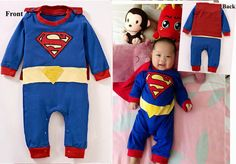 Superman Baby Infant Children Toddler Grow Suit by gagajinger