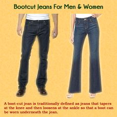 Do you know about Boot Cut Jeans?  The boot-cut jean has now become acceptable wear in the casual office and men and women alike now wear them. As with other styles of jeans, the menswear boot-cut jeans are somewhat baggier all the way down, with a slight flare at the bottom. The female version boot-cut jeans are typically tight at the knee and flare out at the bottom.  Visit sqjeans.com/bootcutjeans.html for getting more details for Boot Cut Jeans…..