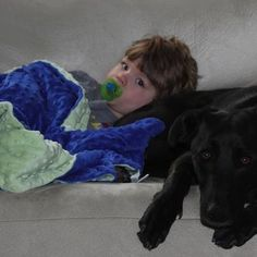 Sometimes you just need a dog and a blanket....