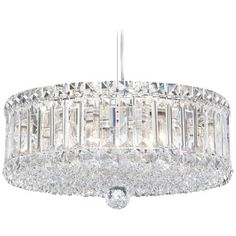 "Schonbek Plaza Collection 14 1/2"" Crystal Pendant Chandelier 