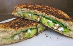 Grilled Cheese with Spinach, Avocado, and Feta | KitchenDaily.com