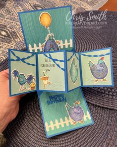 Opening c Fun Fold Cards, Folded Cards, Little Pool, Block Play, You've Got Mail, Chickens And Roosters, Your Cards, Thank You Cards, Cardmaking