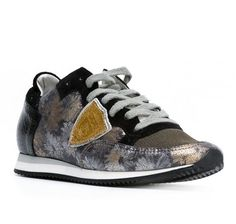 Philippe Model floral leather fabric women sneakers (TRLD FG03) - Bledoncy