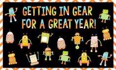 Welcome Back Bulletin Board and Writing Ideas (Robot Theme) Everything you need for this eye catching welcome back board. Also includes nine writing extension activities! Robot Classroom, New Classroom, Kindergarten Classroom, Classroom Themes, Classroom Organization, Classroom Board, Robot Bulletin Boards, Welcome Bulletin Boards, Preschool Bulletin Boards