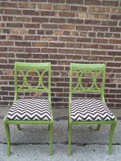 Ducan Phyfe Style chairs in pea green by minthome