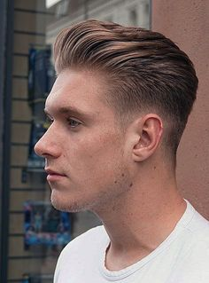 Classic Mens Haircut, Classic Mens Hairstyles, Hair And Beard Styles, Short Hair Styles, Older Men Haircuts, Swept Back Hair, Side Hairstyles, Pretty Hairstyles, Gents Hair Style