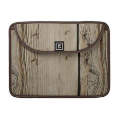 Wood Grain Macbook Pro 13 Inch Laptop Sleeve