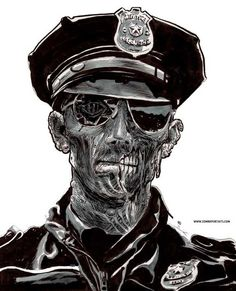 Zombie Cop : By: Rob Sacchetto.. Just following orders..