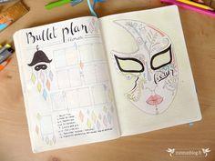 Bullet Journal by ZunZún - page de garde février + bullet plan du mois (liste des pages à créer en plus des semainiers et listes quotidiennes)