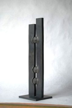 Geometric metal sculpture