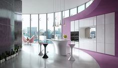 Karim Rashid, Karan Kitchen, Rastelli (2015) – w nowoczesnej, eleganckiej formie zaklęto w pełni funkcjonalną kuchnie na najwyższym poziomie.