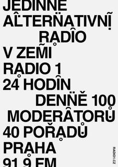 #visualstyle #visual #poster #graphicdesign #typography #radio1 #prague