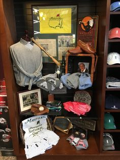 Byron Nelson Collection displayed in the Golf Shop at Colonial Heritage Golf Club.