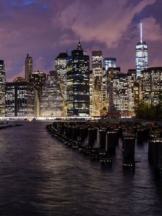 Lower Manhattan with Pylons from Brooklyn Bridge Park | eTips