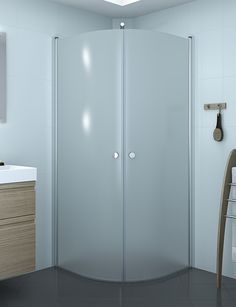 Simple and stylish enclosure in frosted glass.