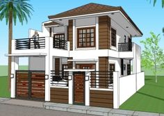 House designs builders - House and home design House Outer Design, Two Story House Design, 2 Storey House Design, Two Storey House, Bungalow House Design, Modern Tiny House, Modern House Design, Three Bedroom House Plan, House Construction Plan