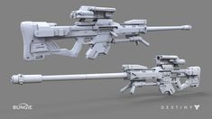 ArtStation - Destiny: Sniper Rifle C, David Stammel