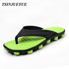 >> Click to Buy << TSINJUYUE 2017 Plus Size Summer Cool Slip on Slippers Men,Light Beach Massage Slippers Water Men's Shoes Green Red Gray  #Affiliate