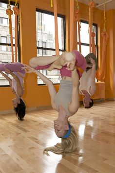 Antigravity yoga. I SO want to try this!