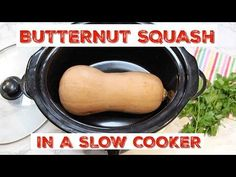 How To Cook Butternut Squash in the Slow Cooker / Crockpot Healthy Meals For Kids, Healthy Eating Recipes, Veggie Recipes, Fall Recipes, Butternut Squash Slow Cooker, Cut Butternut Squash, Slow Cooker Recipes, Crockpot Recipes, Cooking Recipes