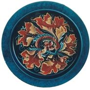 Gudbrandsdal style plate by Marilyn Hansen