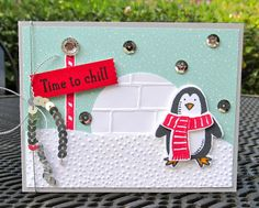 Krystal's Cards: Stampin' Up! Snow Place - Igloo Chill