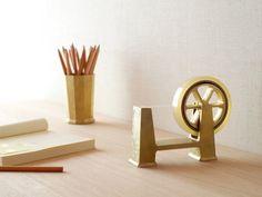 Brass for the desk.