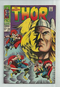 THOR #158 Silver Age gem with gorgeous Jack Kirby cover!  GRADE 7.0  http://r.ebay.com/on5qK1