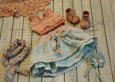 Купить Юленька - голубой, текстильная кукла, выкройка игрушки, выкройка куклы, выкройка pdf