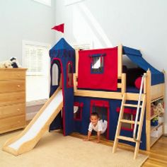 Bunk Beds with Slides for Kids, boys and girls
