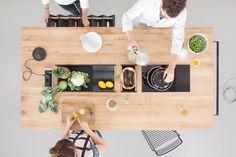 May Kukula created a flexible island packed with functionality that becomes a hub for cooking, eating, and informal interaction. Kitchen Pantry, Kitchen And Bath, Kitchen Island, Kitchen Stuff, Kitchen Interior, Kitchen Decor, Workspace Design, Cuisines Design, Mold And Mildew