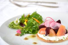 Baby Beet and Fromage Blanc #culinarycapers #food #catering http://www.culinarycapers.com/ Photo: Chef Margaret Chisholm