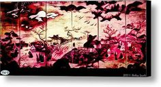 The Red Horizon Canvas Print / Canvas Art By Holley Jacobs