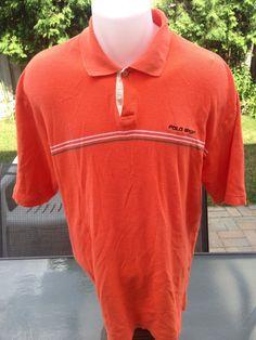 Vintage Short Sleeve Orange Polo Sport Polo by MajorDivision on Etsy https://www.etsy.com/listing/241986801/vintage-short-sleeve-orange-polo-sport